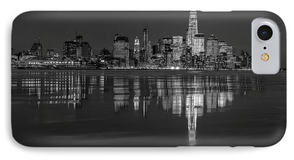 Frozen Lower Manhattan Nyc Bw IPhone Case