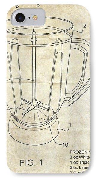 Frozen Margarita Recipe Patent Phone Case by Edward Fielding