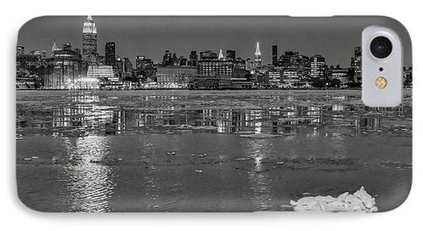 Frozen Midtown Manhattan Nyc Bw IPhone Case by Susan Candelario