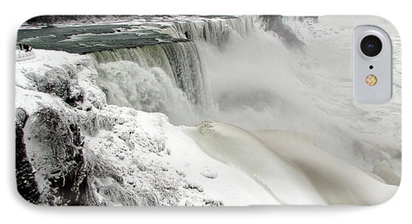 Frozen Niagara And Bridal Veil Falls IPhone Case by Rose Santuci-Sofranko