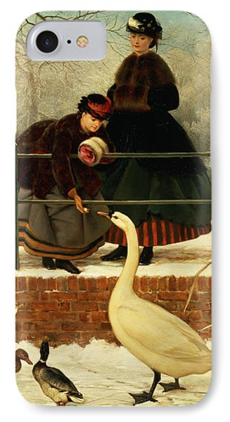 Frozen Out IPhone Case by George Dunlop Leslie