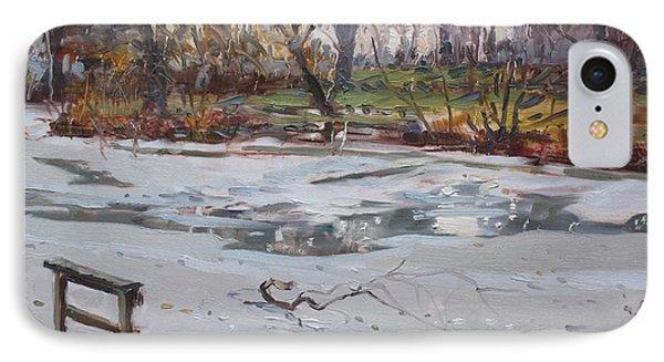 Frozen Pond IPhone Case by Ylli Haruni