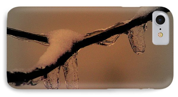 IPhone Case featuring the photograph Frozen Rain by Karen Kersey