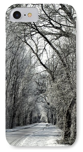 Frozen Road IPhone Case by Wayne Meyer