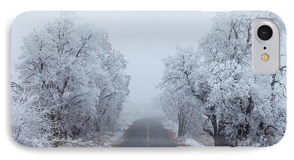 Ice iPhone 7 Case - Frozen Trees by Darren  White