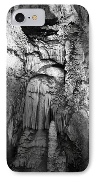 Frozen Waterfall In Carlsbad Caverns IPhone Case by Melany Sarafis