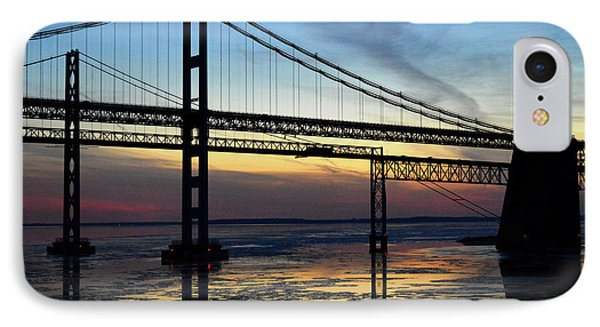 IPhone Case featuring the photograph Frozen Waters Under The Bay Bridge by Bill Swartwout
