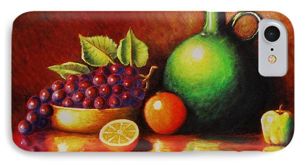 Fruit And Jug IPhone Case by Gene Gregory