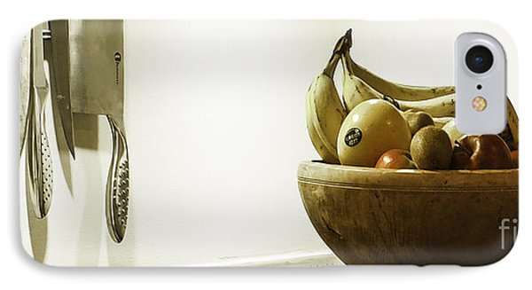 Fruit And Knives IPhone Case by Michael Canning