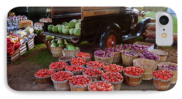 IPhone Case featuring the photograph Fruit And Vegitable Stand Truck by Tom Brickhouse