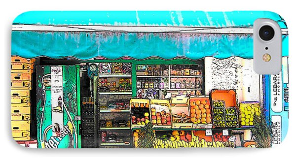 Fruit Market In Paris IPhone Case by Jan Matson