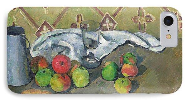 Fruit Serviette And Milk Jug IPhone Case by Paul Cezanne