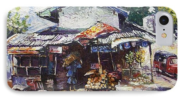 Fruit  Shop In Srilanka IPhone Case by Paul Weerasekera