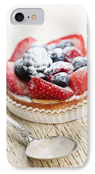 Fruit Tart With Spoon IPhone 7 Case