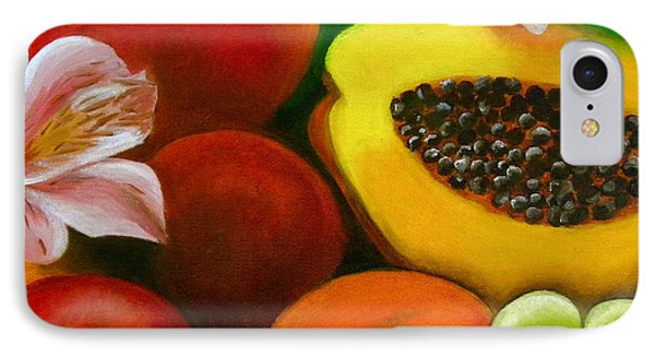 Fruits And Flowers IPhone Case by Fanny Diaz