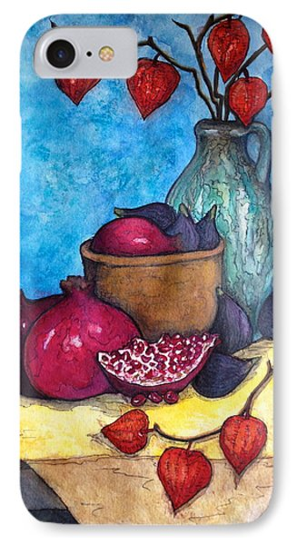 IPhone Case featuring the painting Fruits Of Season  by Rae Chichilnitsky