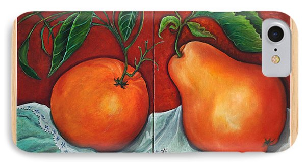IPhone Case featuring the painting Fruits Pears by Yolanda Rodriguez