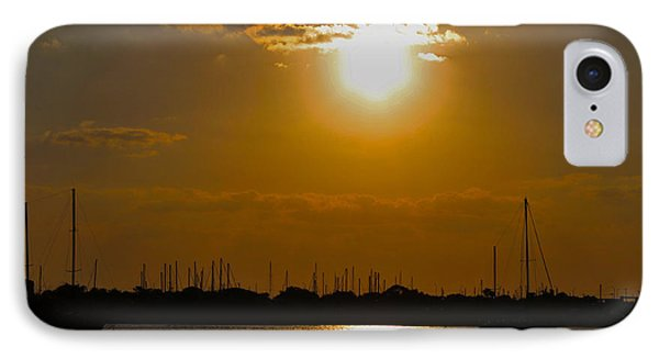 IPhone Case featuring the photograph Ft. Pierce Florida Docks At Dusk by Janice Rae Pariza