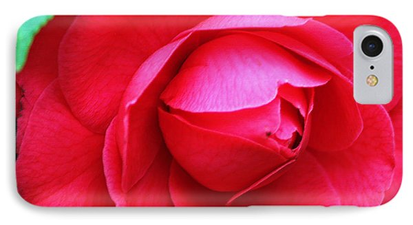Fuchsia Camellia In Pastel Phone Case by Suzanne Gaff
