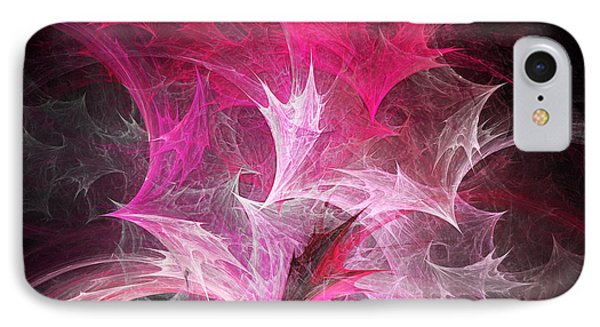 Fuchsia Fountain Abstract Phone Case by Andee Design