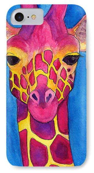 Fuchsia Giraffe IPhone Case