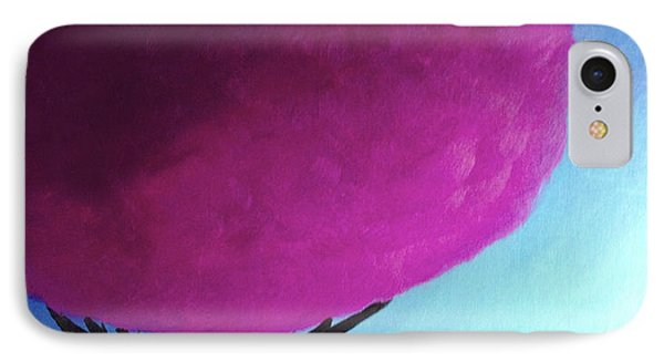 IPhone Case featuring the painting Fuchsia Tree by Anita Lewis