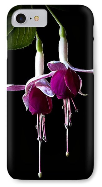IPhone Case featuring the photograph Fuchsias by Endre Balogh