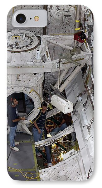 Fuel Cell Removal From Space Shuttle IPhone Case by Kim Shiflett/nasa