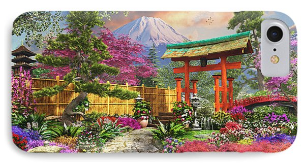 Fuji Flora IPhone Case by Dominic Davison