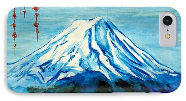 IPhone Case featuring the painting Fuji Mountain by Daniel Janda