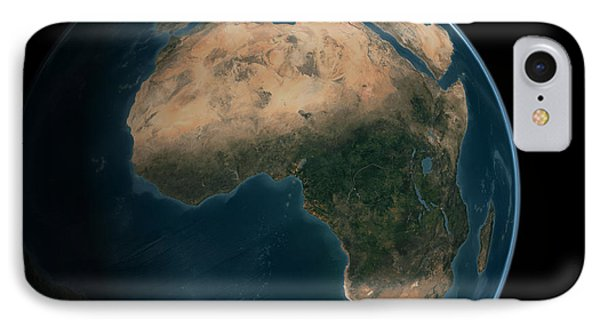 Full Earth From Space Above The African IPhone Case by Stocktrek Images