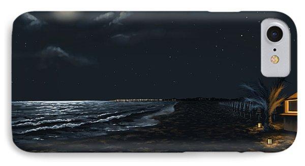Full Moon Above The Mediterranean Sea IPhone Case by Veronica Minozzi