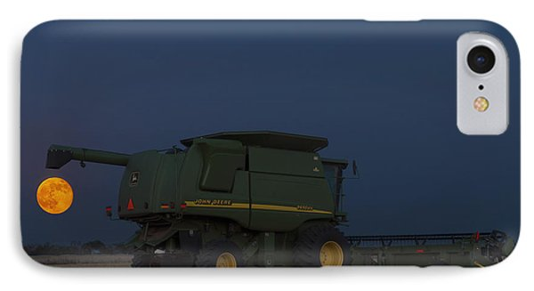 IPhone Case featuring the photograph Full Moon And Combine by Rob Graham