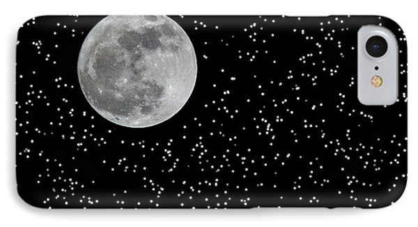 Full Moon And Stars Phone Case by Frank Feliciano