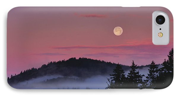 IPhone Case featuring the photograph Full Moon At Dawn by Peggy Collins