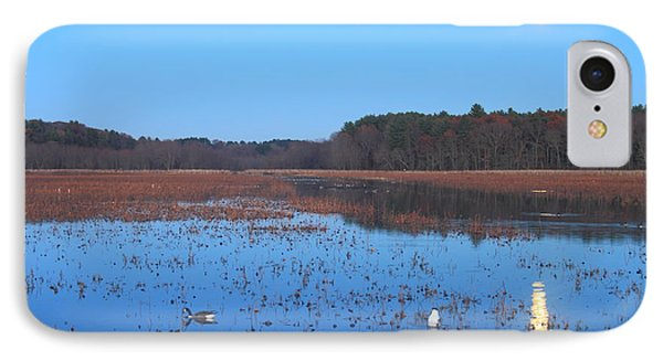 Full Moon At Great Meadows National Wildlife Refuge IPhone Case