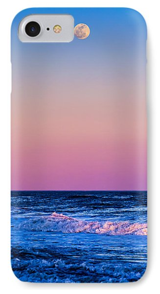 Full Moon At Sea IPhone Case by Ryan Moore