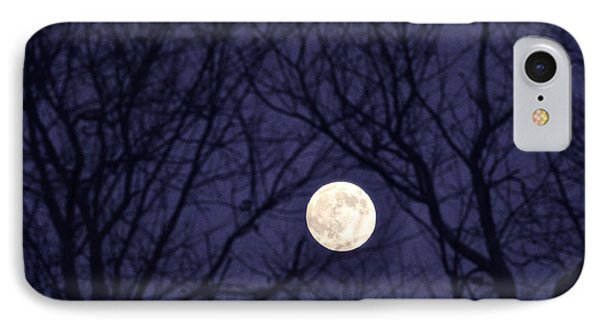Full Moon Bare Branches Phone Case by Thomas R Fletcher