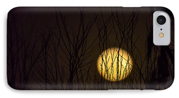 Full Moon Behind The Trees Phone Case by Angela A Stanton