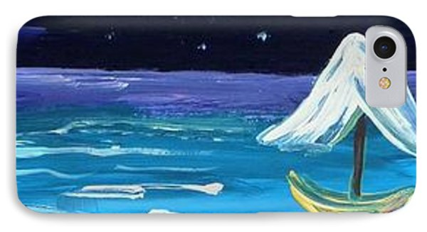 Full Moon Full Sail IPhone Case by Mary Carol Williams