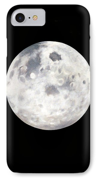 IPhone Case featuring the painting Full Moon In Black Night by Janice Dunbar
