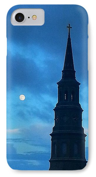 IPhone Case featuring the photograph Full Moon In The Holy City by Joetta Beauford