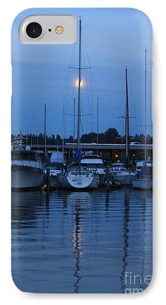IPhone Case featuring the photograph Full Moon Marina - Lake Washington by Amanda Holmes Tzafrir