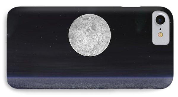Full Moon On A Dark Night With Stars IPhone Case