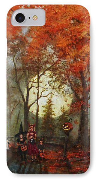 Full Moon On Halloween Lane Phone Case by Tom Shropshire