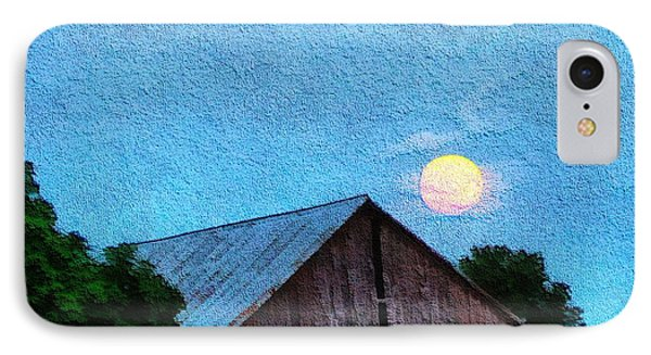 Full Moon On The Farm IPhone Case by Dan Sproul