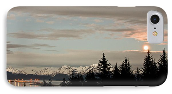 Full Moon Over Homer Alaska IPhone Case by Natasha Bishop