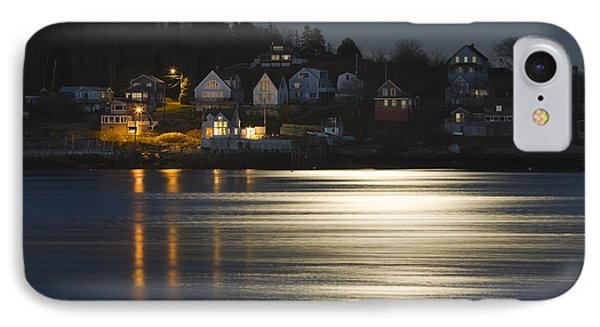Full Moon Over Kennebec River Georgetown Island Maine IPhone Case by Keith Webber Jr