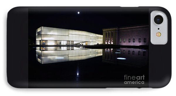 Full Moon Over Nelson Atkins Museum In Kansas City IPhone Case by Catherine Sherman