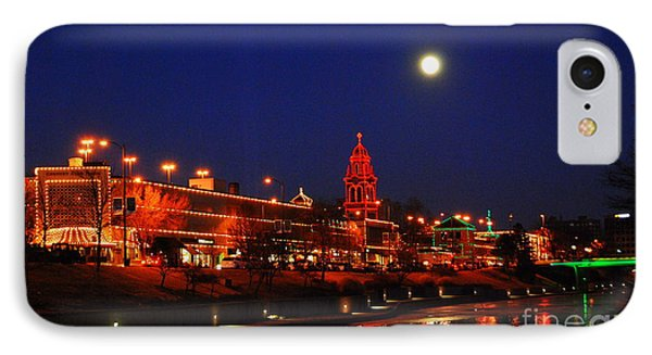 Full Moon Over Plaza Lights In Kansas City IPhone Case by Catherine Sherman